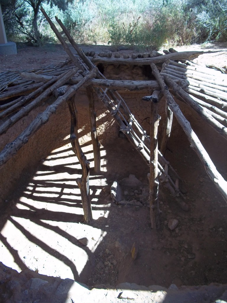 Anasazi pit house reconstructed