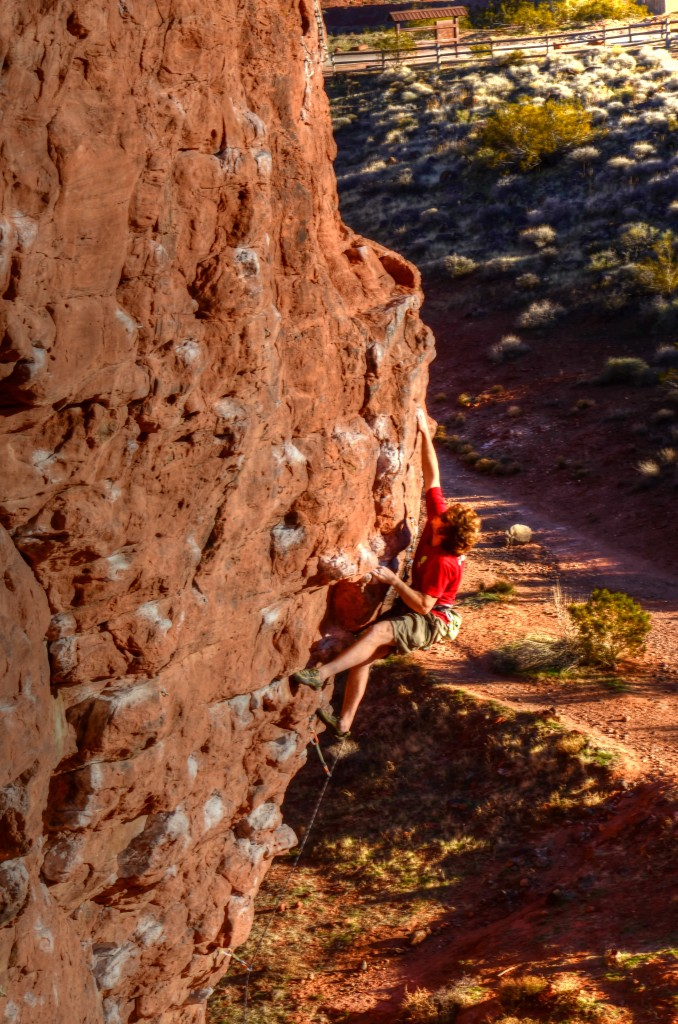 Second Coming 5.12a chuckawalla wall st. george utah
