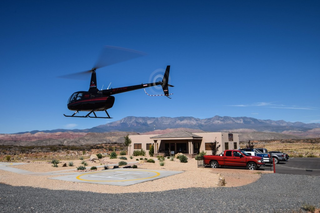 Zion helicopter launch