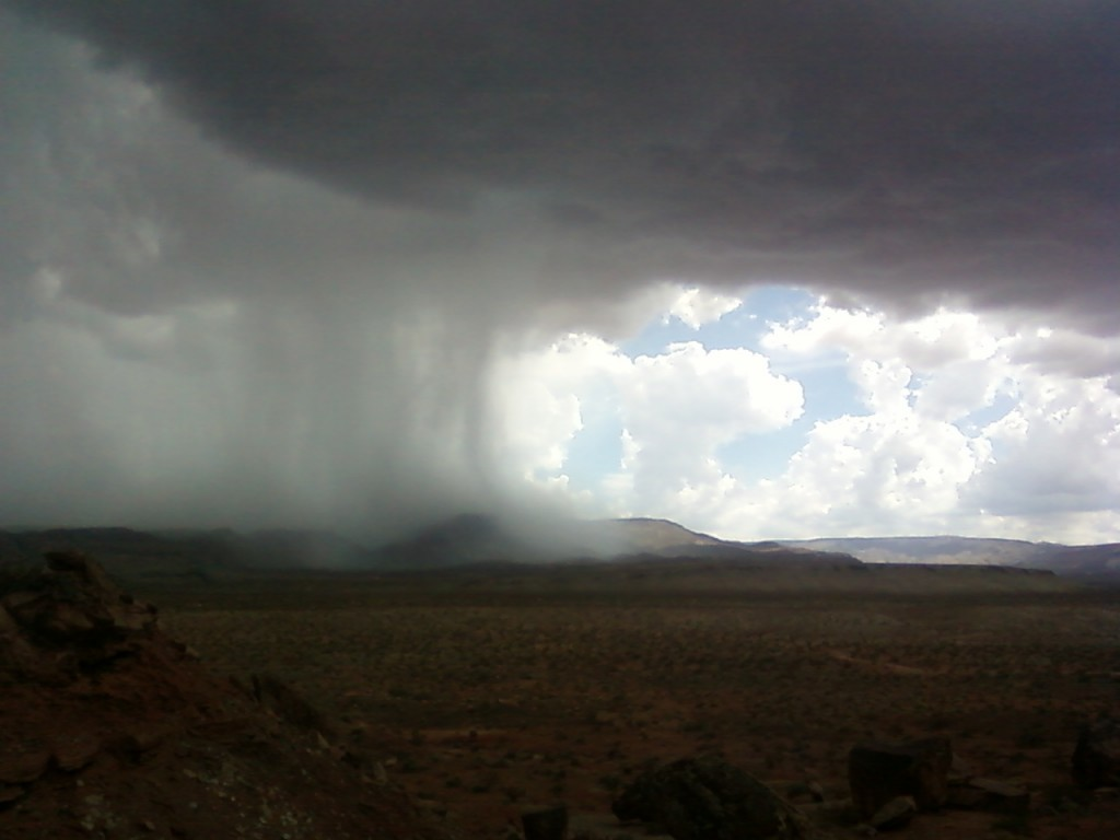 Monsoon storm, Arizona Strip.