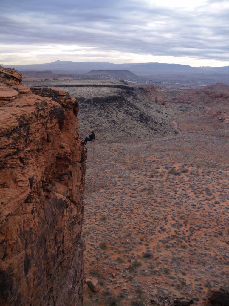 Rappelling Cougar Cliffs St. George