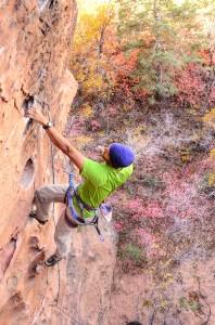 rock climbing at lambs knoll utah