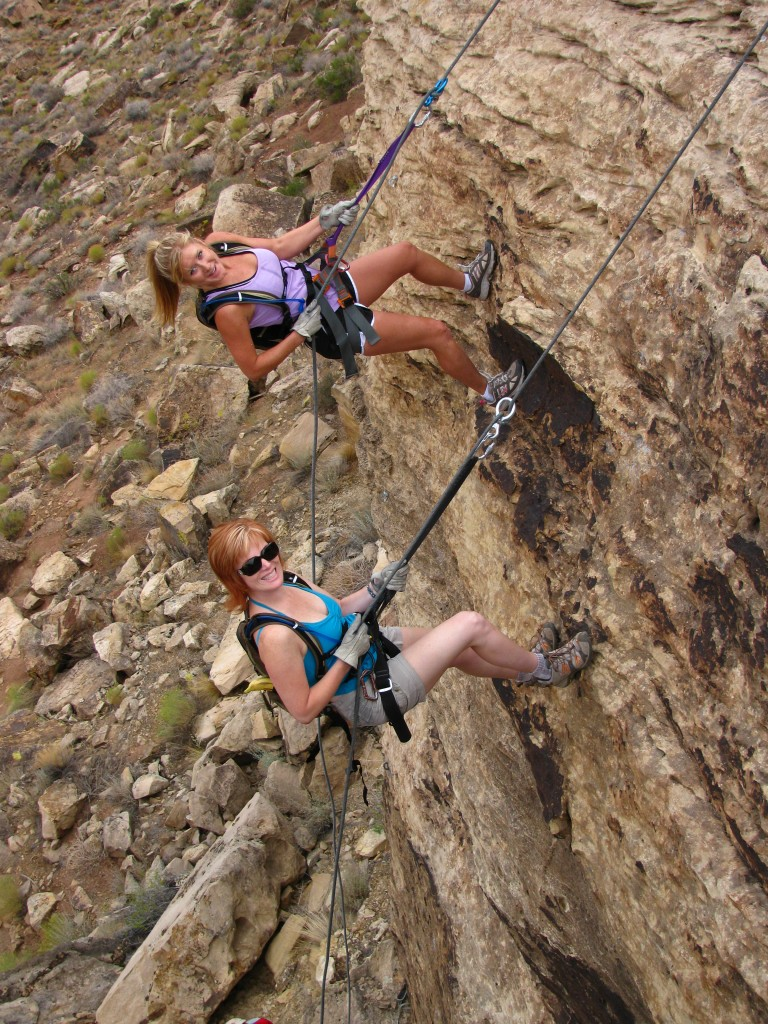 rappelling in gap green valley gap, Saint George Utah