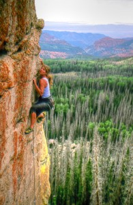 rock climbing at the overlook Utah